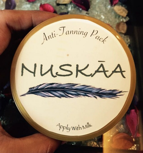 Review of Anti Tanning Pack from Nuskaa
