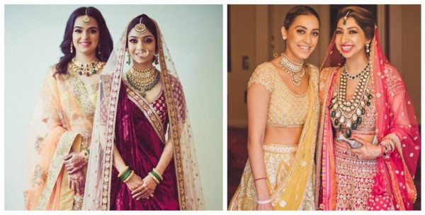 8 Trendy Wedding Looks for Bride / Groom Sister