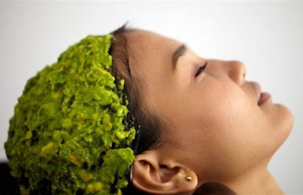 DIY Green Tea Oily Hair Mask