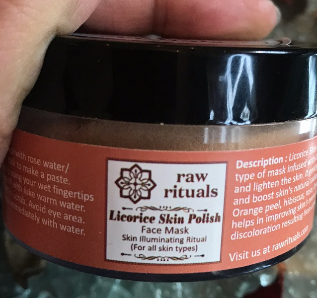 Raw Rituals Licorice Skin Polish Face Mask
