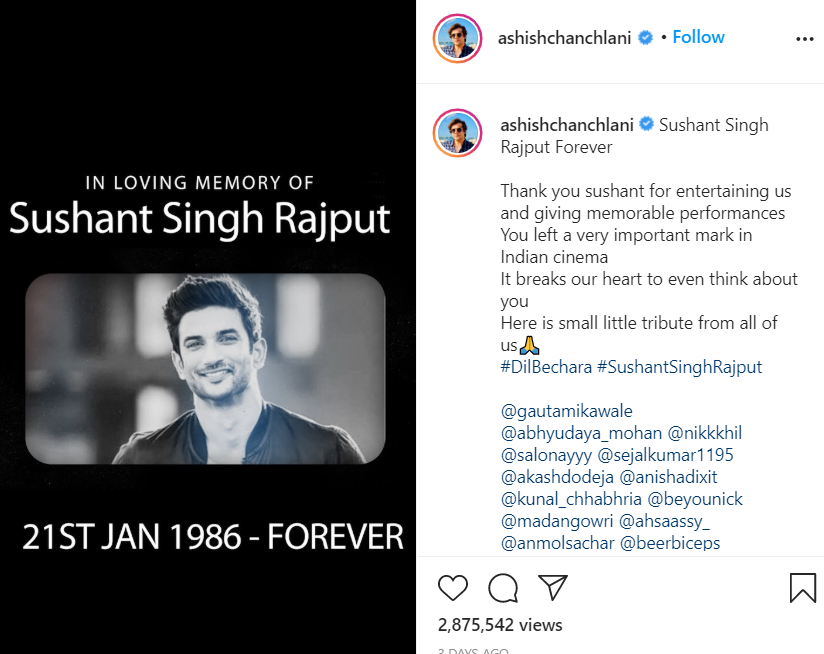 Tribute to Sushant Sing Rajput