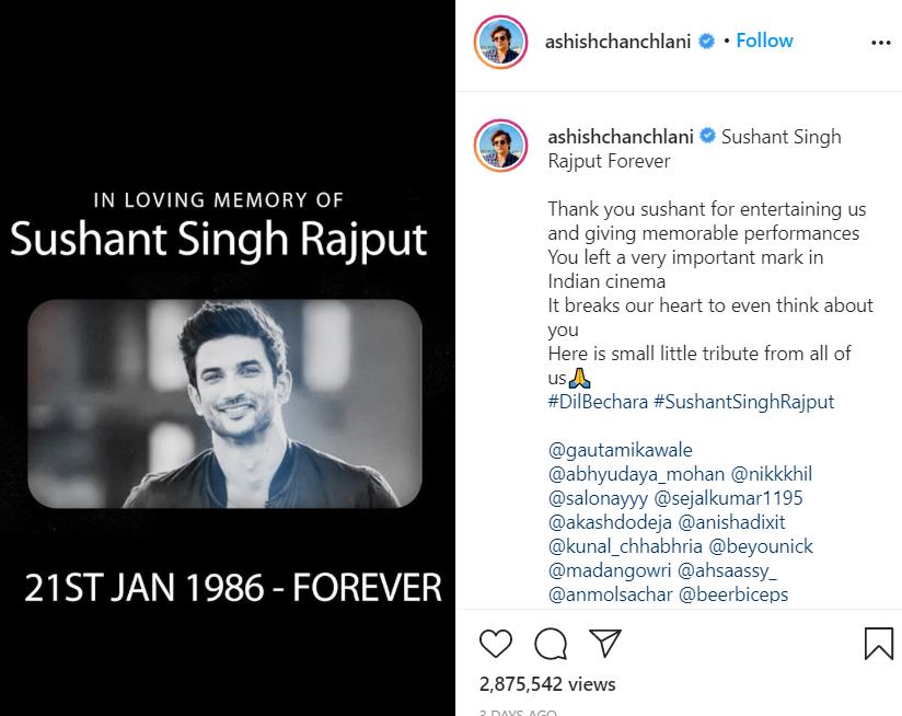 Tribute to Sushant Sing Rajput
